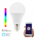 Lâmpada WiFi LED E27 10W RGBW