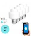 Pack 4 Portalámparas WiFi E27