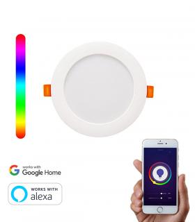 Downlight Inteligente WiFi LED Circular RGBW 10W