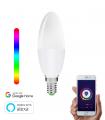 Bombilla Inteligente E14 WiFi Vela LED RGBW 5W